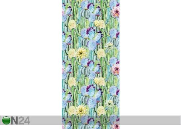 AG Design Fleece-kuvatapetti FLOWERS AND CACTUS 53x1000 cm