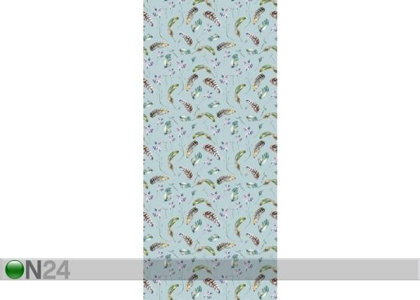 AG Design Fleece-kuvatapetti FEATHERS AND FLOWERS 53x1000 cm