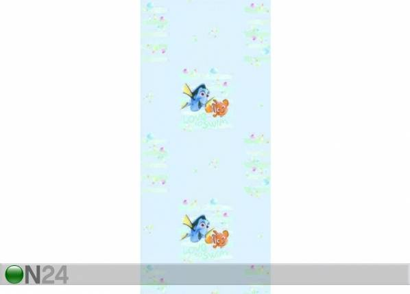 AG Design Fleecetapetti DORY AND NEMO LOVE TO SWIM, LIGHT BLUE 53x1000 cm