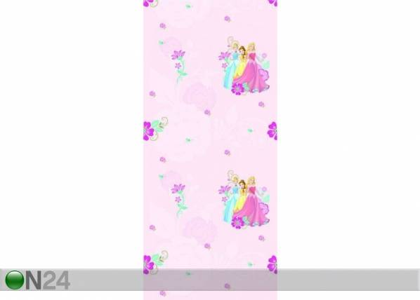 AG Design Fleecetapetti MULTIPRINCESS, PINK 53x1000 cm