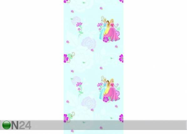 AG Design Fleecetapetti MULTIPRINCESS, BLUE 53x1000 cm