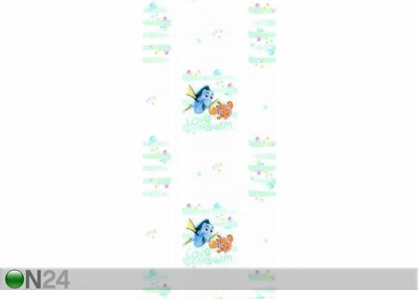 AG Design Fleece-tapetti DORY AND NEMO LOVE TO SWIM, WHITE 53x1000 cm